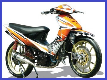 Modifikasi Suzuki Shogun 110_Racing Costum Tribal-Otomodif Modifikasi