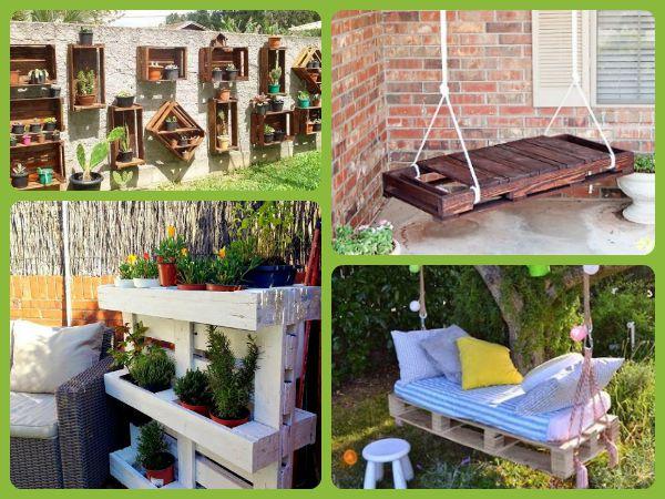 Trucos de bricolaje 18 ideas para decorar espacios - Palets decoracion jardin ...