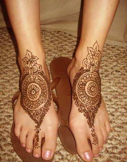 Beautiful Feet Mehndi Designs : Latest mehndi designs beautiful feet