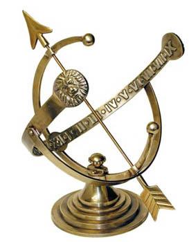 Brass Armillary Sundial