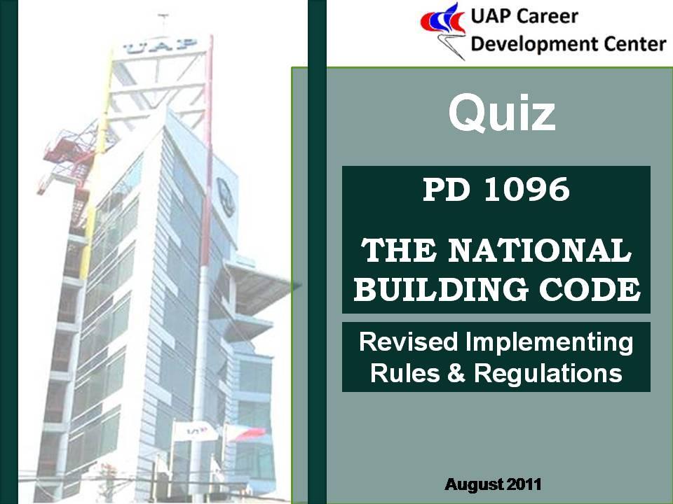 Bldglaws Quiz 1 National Building Code Uapccd