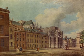 Old Palace Yard, Westminster - Water Color Painting