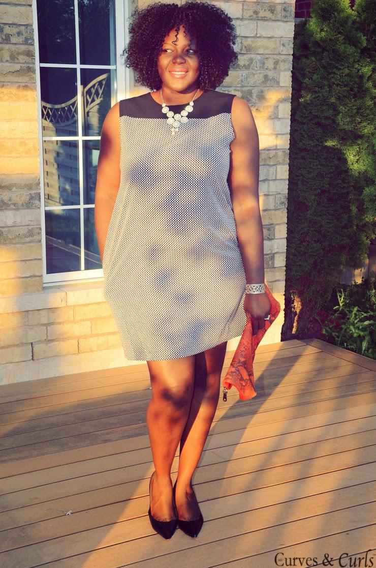 Joe Fresh mini checkered dress/tunic -- Plus size fashion