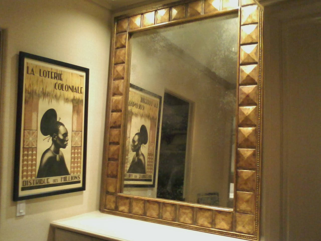 Gold Makes Bathrooms Riches Home And Art Mirror