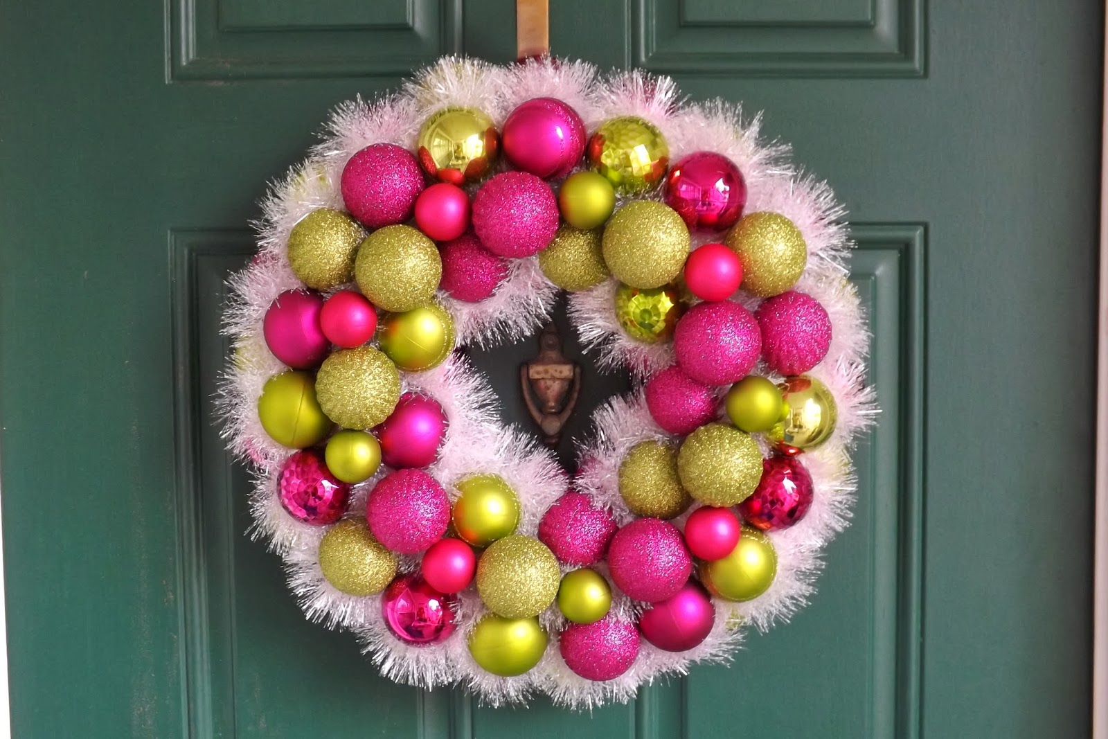 New orleans crafts by design lime green and pink ornament