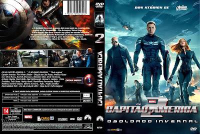 Filme Capitão América 2: O Soldado Invernal DVD Capa