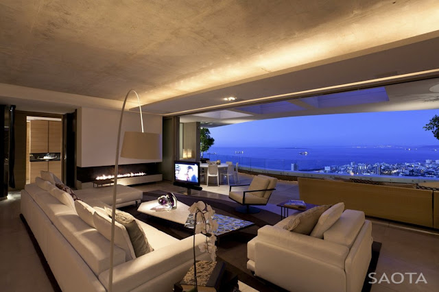 Picture of the city as seen from the modern living room