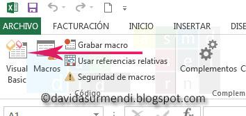 Botón para acceder al Editor de Visual Basic.