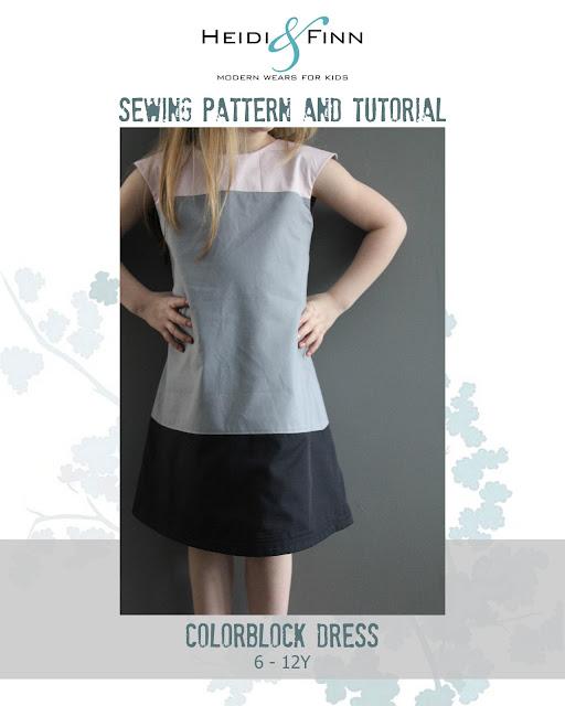 HeidiandFinn modern wears for kids: Colorblock dress is now in the shop