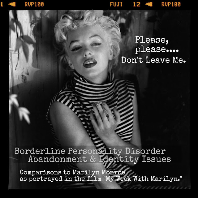 marilyn monroe and borderline personality disorder essay Essays related to marilyn monroe and audrey hepburn - personality borderline personality disorder  personality in all forms marilyn monroe's.