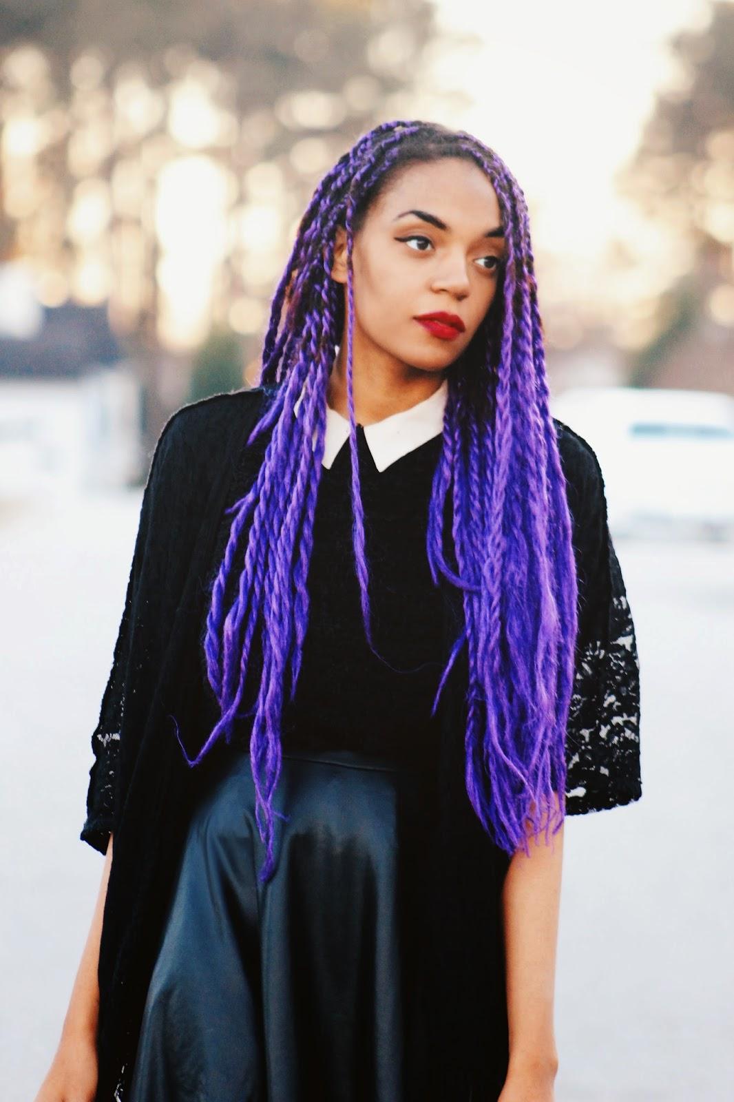 Purple Senegalese Twists | I Style Looks