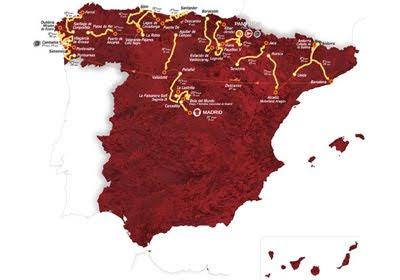 la Vuelta ciclista a España 2012 recorrido mapa