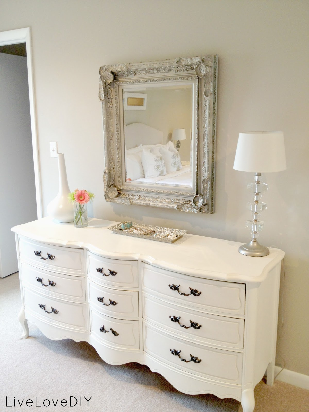 Livelovediy master bedroom updates for Bedroom dresser decor