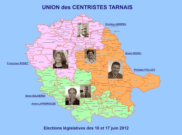 Les candidats de l'UNION des CENTRISTES TARNAIS