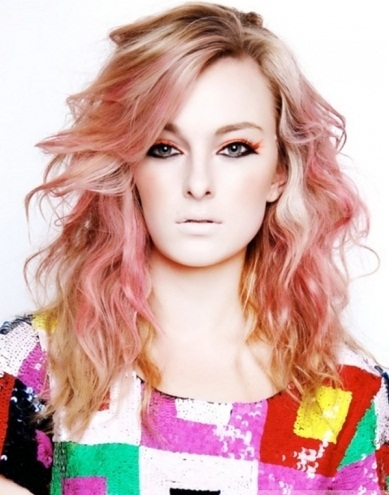 Glam Pink Hair Highlights Idea 2014