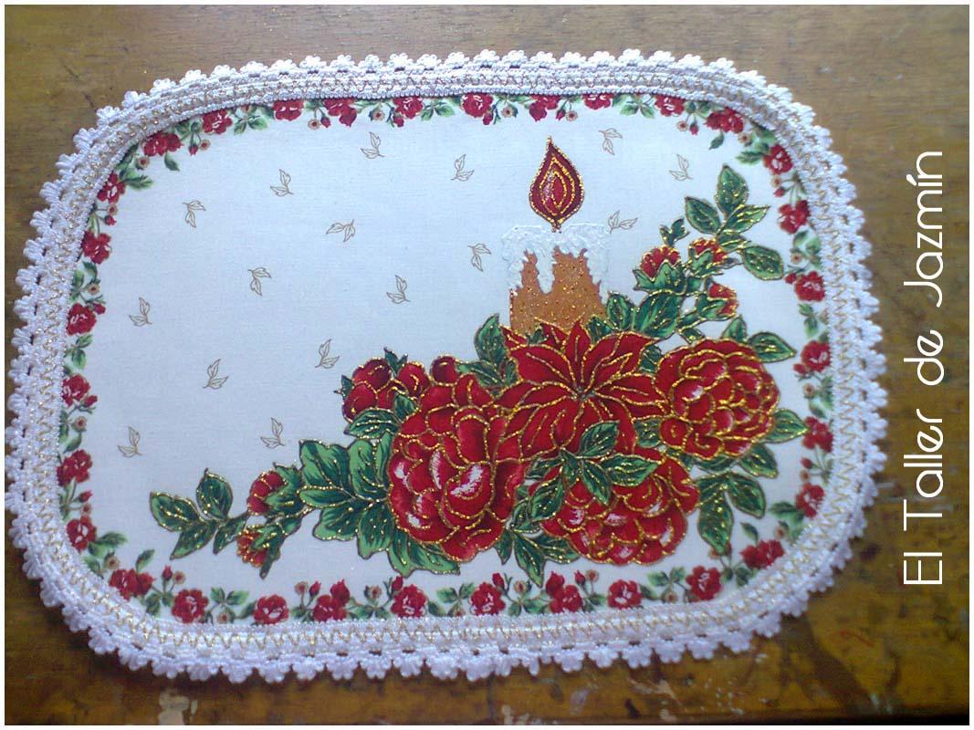 Manualidades pintura sobre tela - Pintura en tela motivos navidenos ...