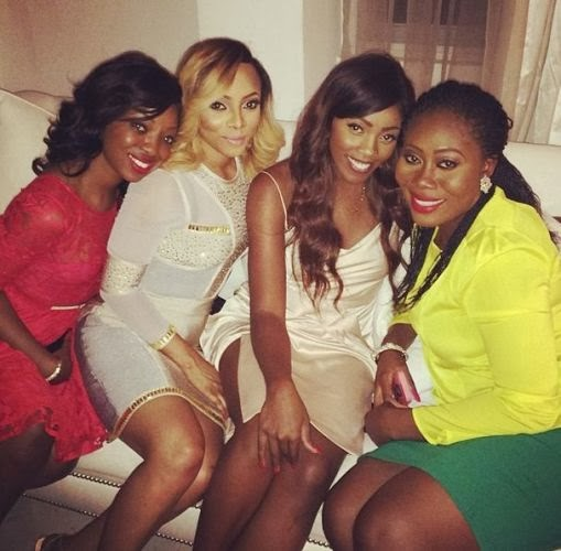 Photos From Toke Makinwa & Maje Ayida's Wedding Dinner party