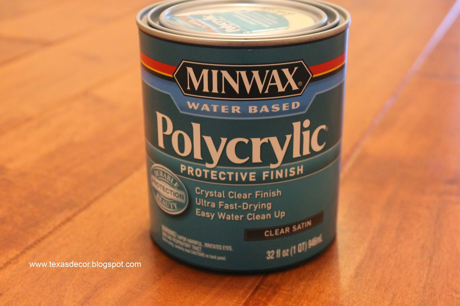 using Polycrylic as top coat
