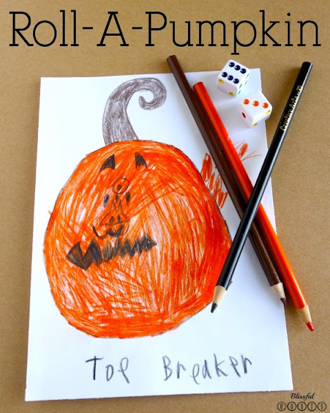 Roll-A-Pumpkin {A Fun Halloween Dice Game} @ Blissful Roots