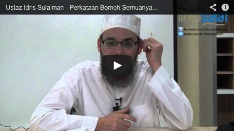 Ustaz Idris Sulaiman – Perkataan Bomoh Semuanya Dusta Kecuali Hanya Sedikit yang Benar
