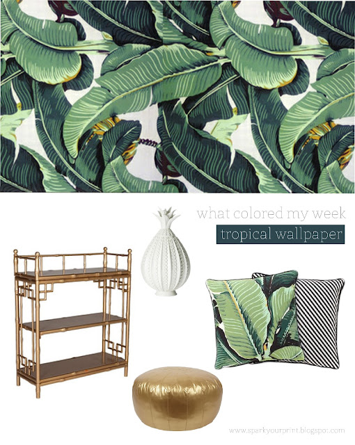 decorating with wallpaper I mariana hodges for sparkyourprint.blogspot.com