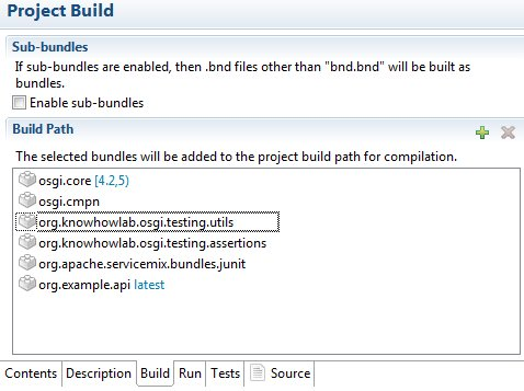 Osgi tutorial 4 ways to activate code in osgi bundle knowhowlab open orgexampletest build tab and add dependencies orgexampleapi orgowhowlabosgitestingutils orgowhowlabosgitestingsertions malvernweather Image collections