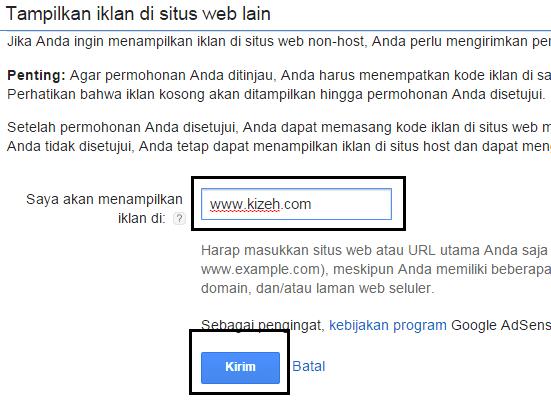Permintaan pengubahan google adsense hosted ke non-hosted