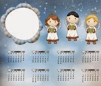 Moldura calendário para Meninas
