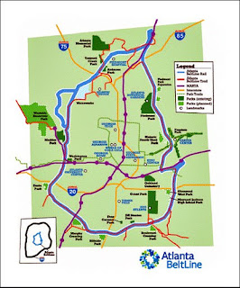 Atlanta BeltLine overview map