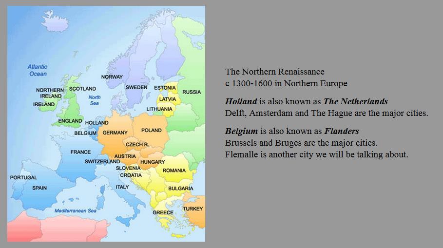 renaissance comparison italian and northern europe