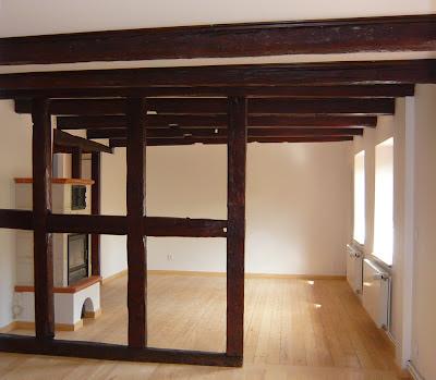 salon renovation pan de bois