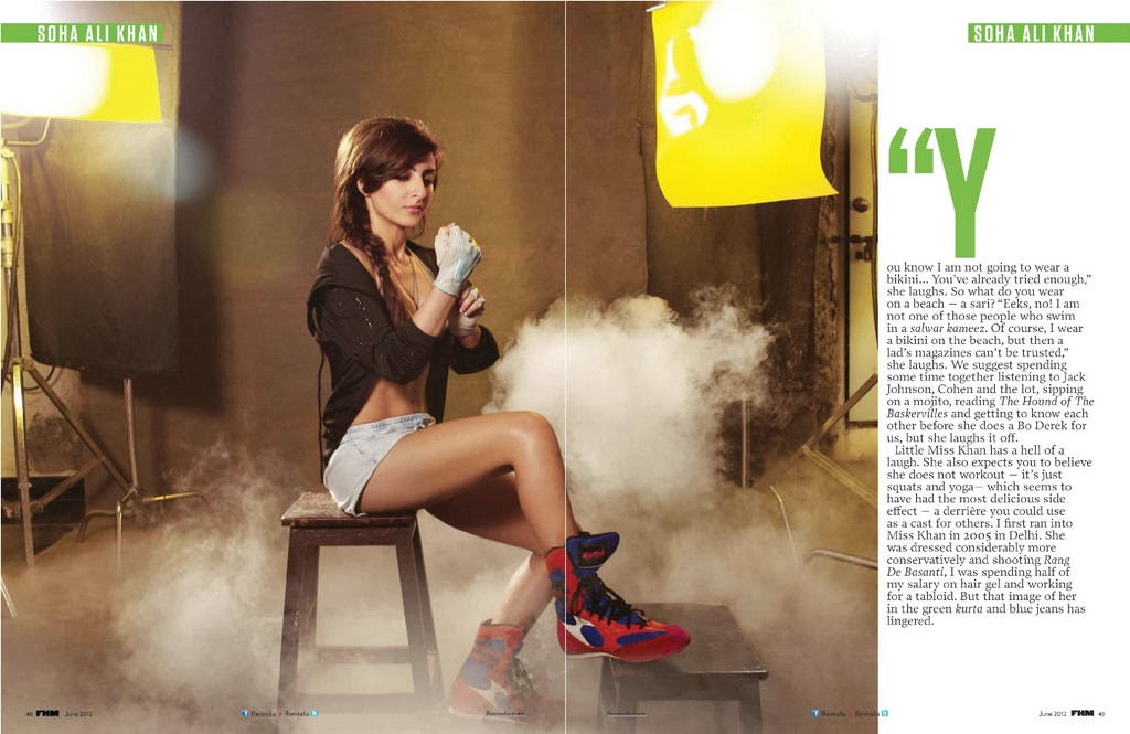 Soha-Ali-Khan-showing-sexy-legs-in-FHM-India-magazine