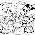 Turma da Mônica Dia dos Namorados para colorir.