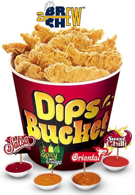KFC India Chicken Dips Bucket