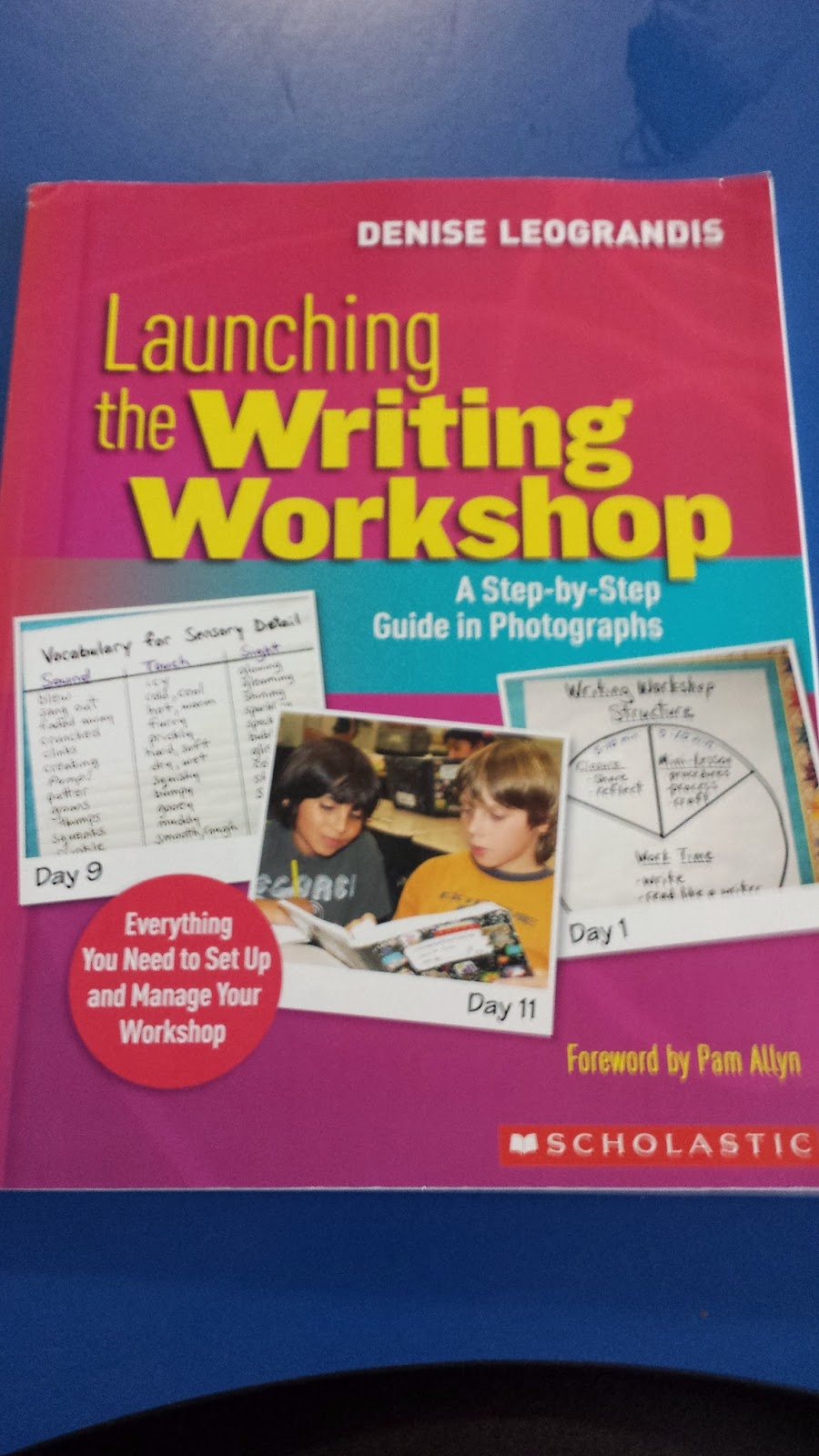 http://www.amazon.com/Launching-Writing-Workshop-Step---Step/dp/0545021219/ref=sr_1_1?ie=UTF8&qid=1401830738&sr=8-1&keywords=launching+the+writing+workshop