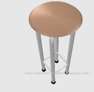 kursi bar kafe besi kayu