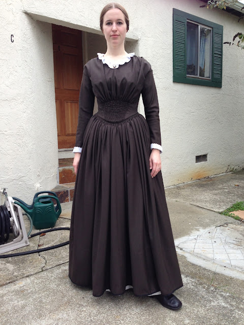1840s Dress Front View