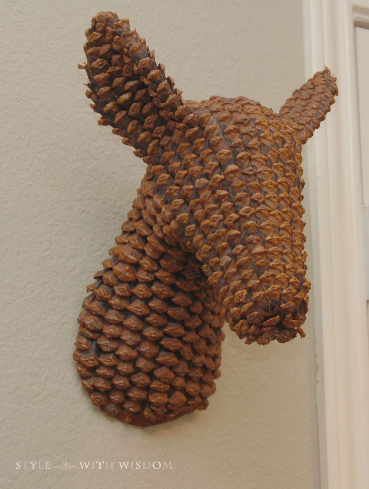 Woodland Nursery pinecone deer head