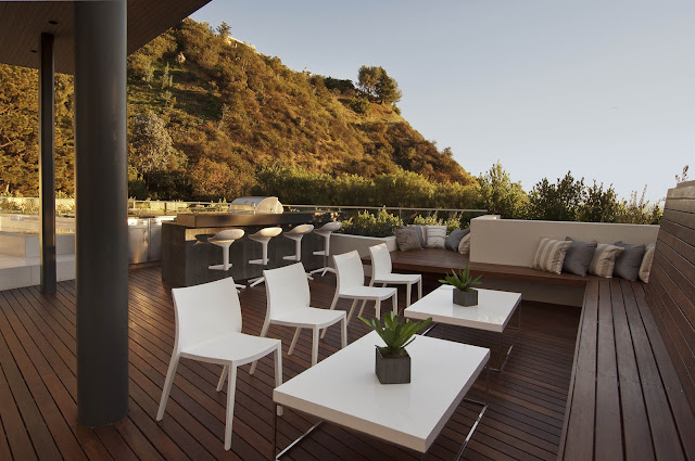 Picture of modern outdoor furniture on the terrace