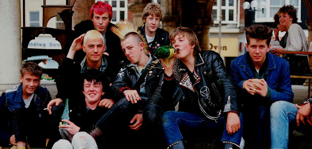 In England The Early 80s With Punks Pychobillies Rockabillies And Skinheads Hanging Out Town Centres Bottles Of Cider For Refreshment