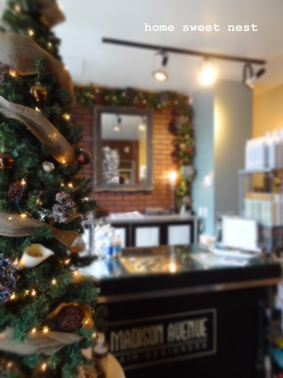 Decorating Ideas > Home Sweet Nest Salon Christmas Decor ~ 064703_Christmas Decoration Ideas Salon