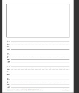 fundations handwriting paper
