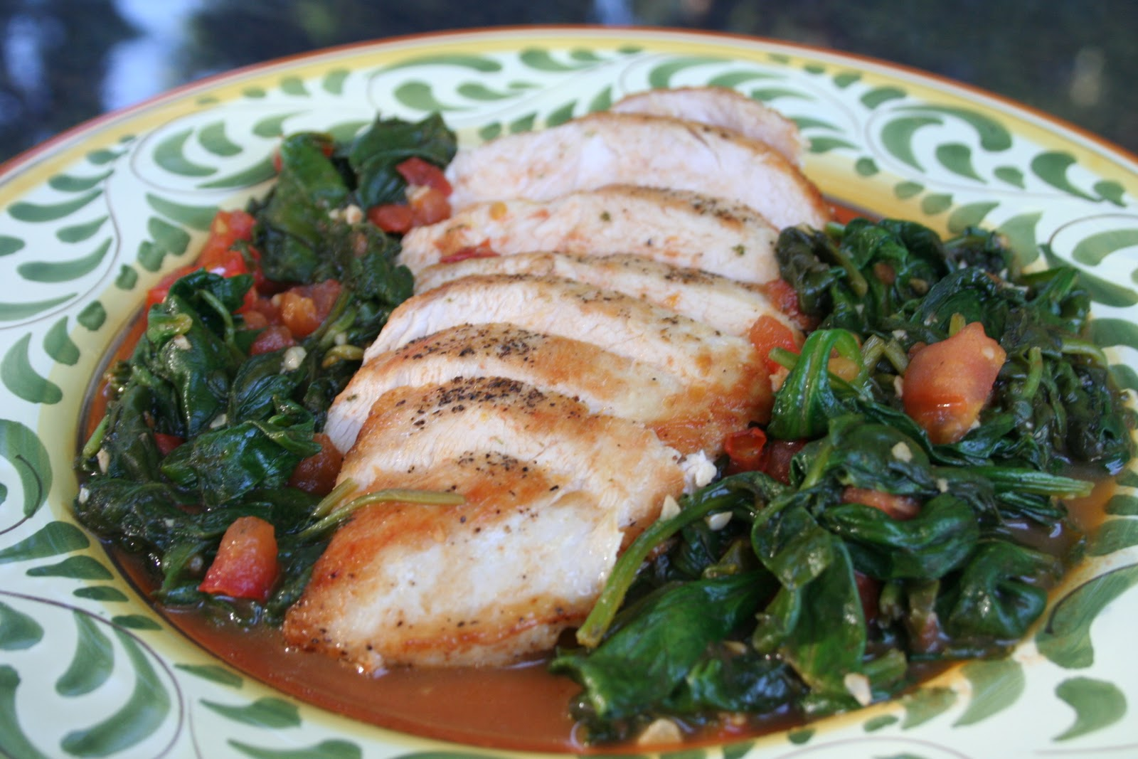 COOK WITH SUSAN: Lemon Chicken with Spinach