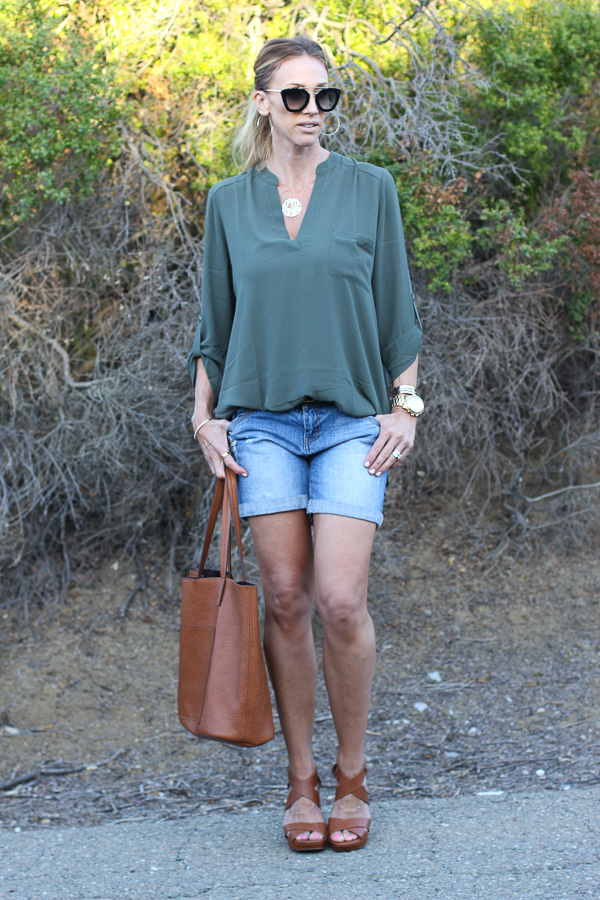 lush tunic top tucked in
