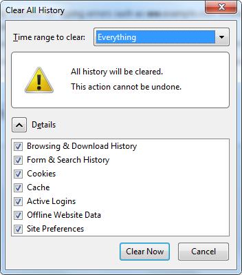 Cara Menghapus History Di Mozilla Firefox dan Google Chrome