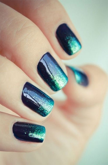 Black Acrylic Nail Designs Trends 2015 - 2016 13