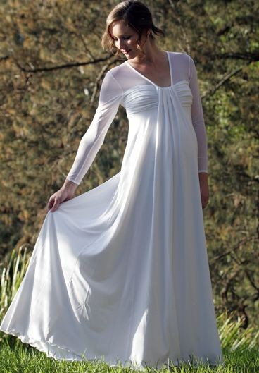 chiffon maternity wedding dress