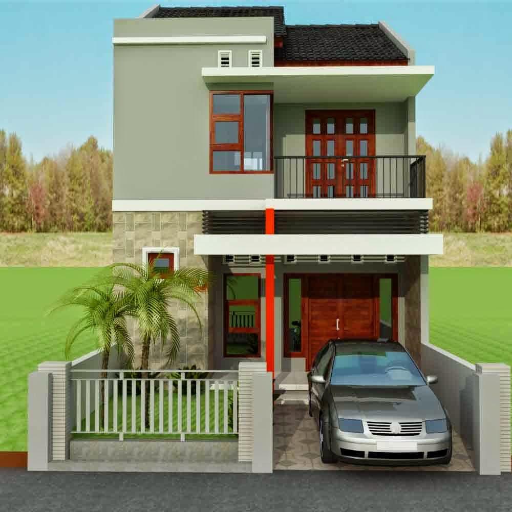 Contoh Desain Rumah Minimalis Type 45 Lantai 2