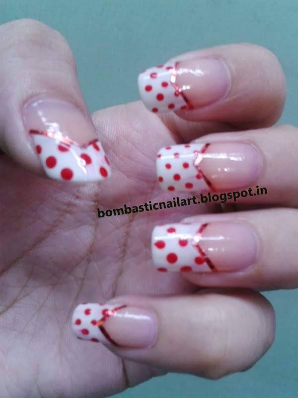 Day 1 red french manicure nails bombastic nail art i hope you like my red french manicure nail mani tomorrow i will be back with yellow bee nail manicure prinsesfo Choice Image
