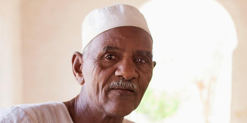 Mohamed Hámid bácsi. Szoleb, Szudán.